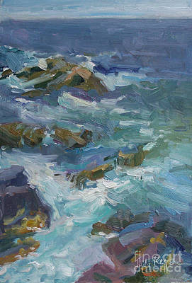 Incoming Tide Painting - Tide Pools by Jody  Regan