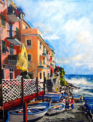 Painting - Tide Watch Italy by Michael Tieman