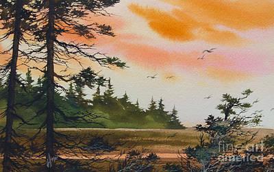 San Juan Painting - Tideland Dawn by James Williamson