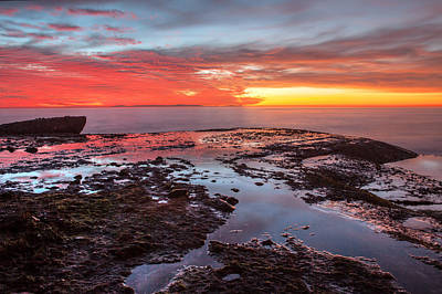 Photograph - Tidepools At Sunset by Cliff Wassmann