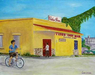 Painting - Tides Inn Bar by Linda Cabrera