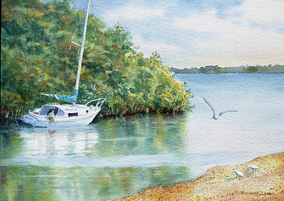 Painting - Tide's Out by Roger Rockefeller