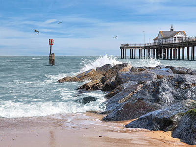Photograph - Tide's Turning - Southwold Pier by Gill Billington