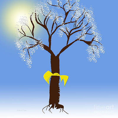 Digital Art - Tie A Yellow Ribbon Round The Ole Oak Tree 3  by Andee Design