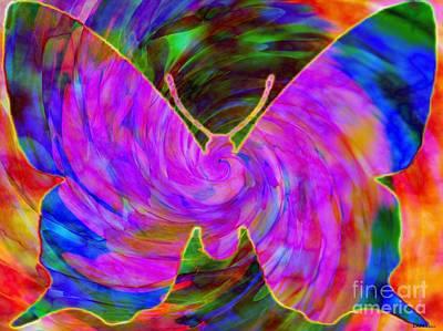 Tie-dye Butterfly Art Print by Elizabeth McTaggart