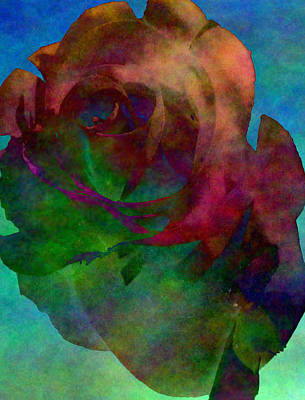 Photograph - Tie Dye Rose by Kristie  Bonnewell