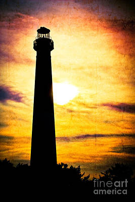 Tie Dye Sky - Lighthouse Art Print by Colleen Kammerer
