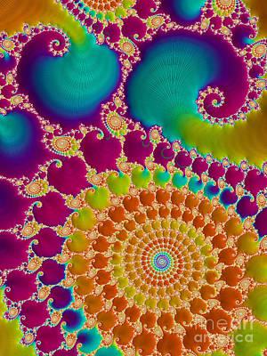 Kaleidoscope Digital Art - Tie Dye Spiral  by Heidi Smith