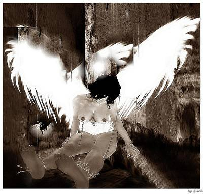 Digital Art - Tied Angel by Theda Tammas