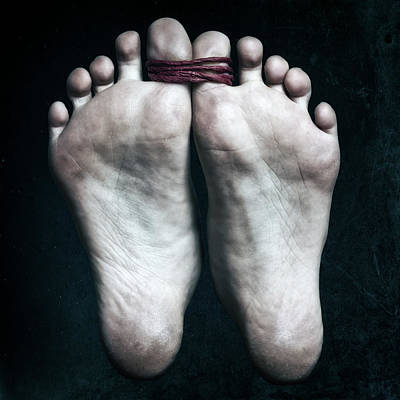 Bare Feet Photograph - Tied Big Toes by Joana Kruse