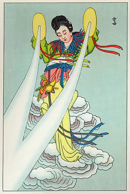 Tien-mou The Mother Of Lightning Art Print by Mary Evans Picture Library