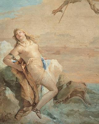 Tiepolo Giambattista, Ruggiero Saving Art Print by Everett
