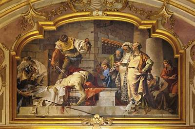 Tiepolo Giambattista, The Beheading Art Print by Everett