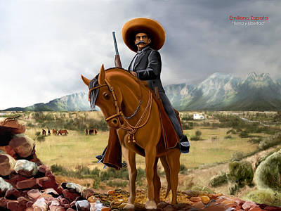 Mexicano Mixed Media - Tierra Y Libertad  by Arturo Rios Mercado