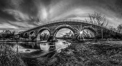 Photograph - Tiffany Bridge Monochrome by Randy Scherkenbach