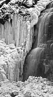 Photograph - Tiffany Falls - A Study In Black And White by Alan Norsworthy