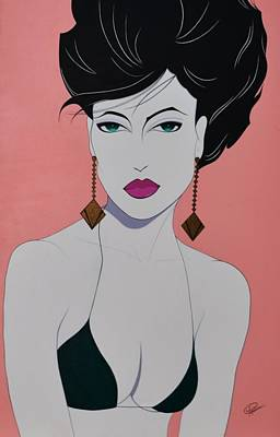 Gold Earrings Painting - Tiffany by Patrice Clark