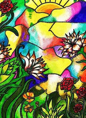 Tiffany Drawing - Tiffany Sunset by Bonnie Leeman
