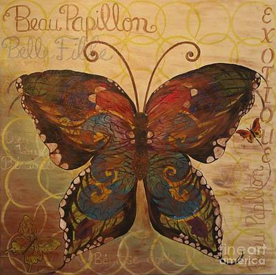Painting - Tiffany's Butterfly by Sheri Dean