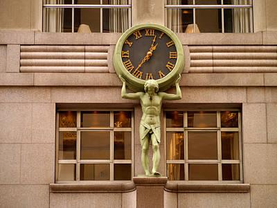 Photograph - Tiffany's Clock by Cornelis Verwaal