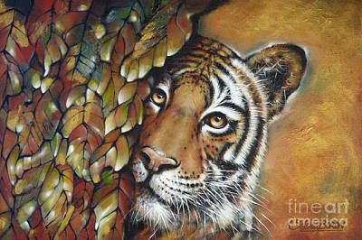Painting - Tiger 300711 by Selena Boron