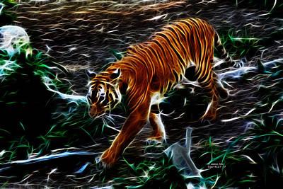 Digital Art - Tiger 4217 - F by James Ahn
