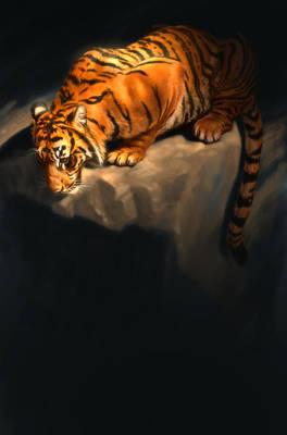 Wall Art - Digital Art - Tiger 5 by Aaron Blaise