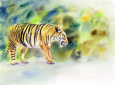 Animals Paintings - Tiger by Amy Kirkpatrick