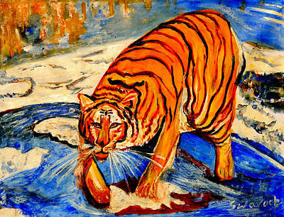 Painting - Tiger by Anand Swaroop Manchiraju