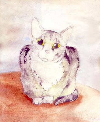 Gray Tabby Painting - Tiger by Angela Bingham