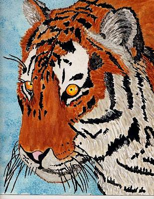 Painting - Tiger Cat by Connie Valasco