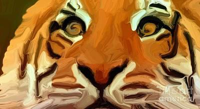 Tigress Digital Art - Tiger by Chris Butler