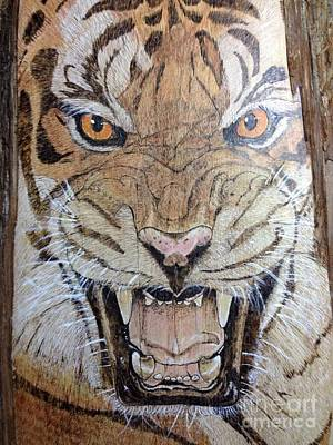 Pyrography Pyrography - Tiger by Cindy Jo Burleson