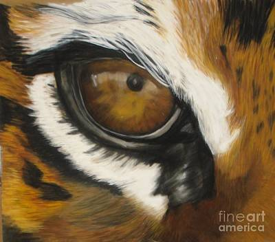 Pastel - Tiger Eye by Ann Marie Chaffin
