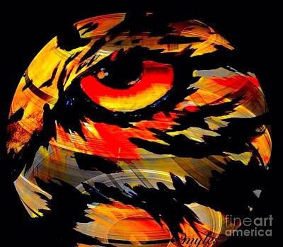 Painting - Tiger Eye In The Round by Saundra Myles