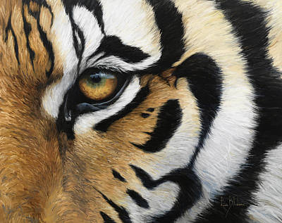 Close Up Painting - Tiger Eye by Lucie Bilodeau