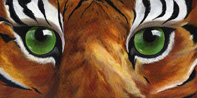 Hampden-sydney College Painting - Tiger Eyes by Donna Tucker