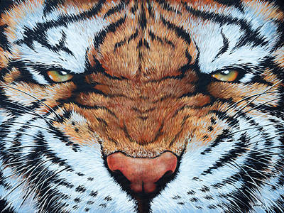 Painting - Tiger Eyes by Glenn Pollard