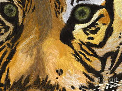 Tiger Eyes Art Print by Methune Hively