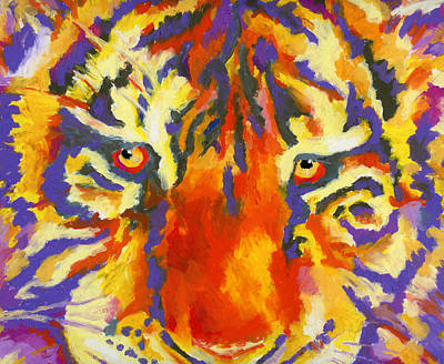 Tiger Eyes Art Print by Stephen Anderson