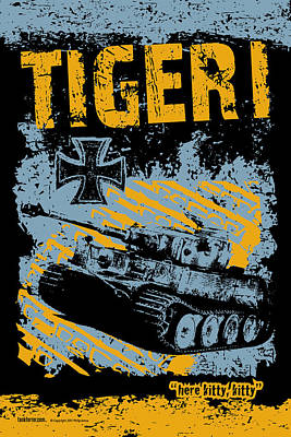 Tiger I Print by Philip Arena