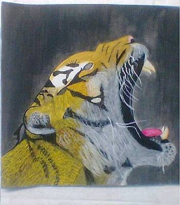 Thomas Brown Painting - Tiger Jaw by Thomas Brown