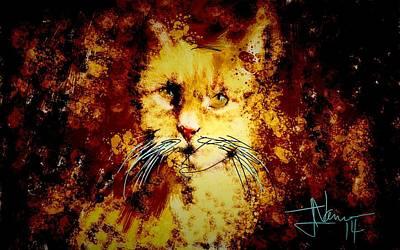 Digital Art - Tiger by Jim Vance