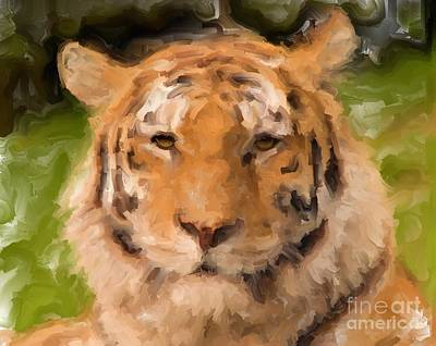 Digital Art - Tiger King by Ruby Cross