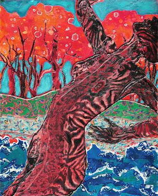 Tiger Lady Art Print by Diane Fine