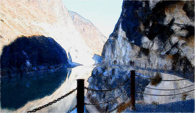 Deep River County Park Painting - Tiger Leaping Gorge 1 by Lanjee Chee