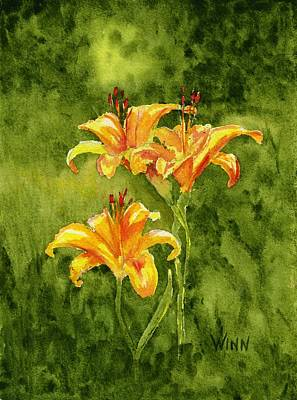 Painting - Tiger Lilies by Brett Winn