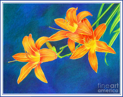 Painting - Tiger Lilies by Mariarosa Rockefeller