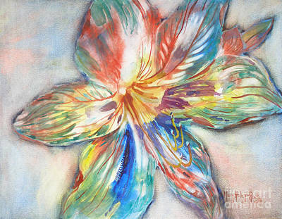 Tiger Lilly Art Print by Mary Haley-Rocks
