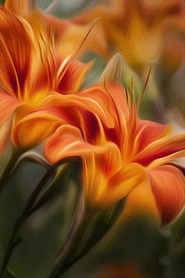 Digital Art - Tiger Lily by Bill Wakeley